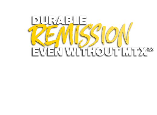 Durable remission even without MTX
